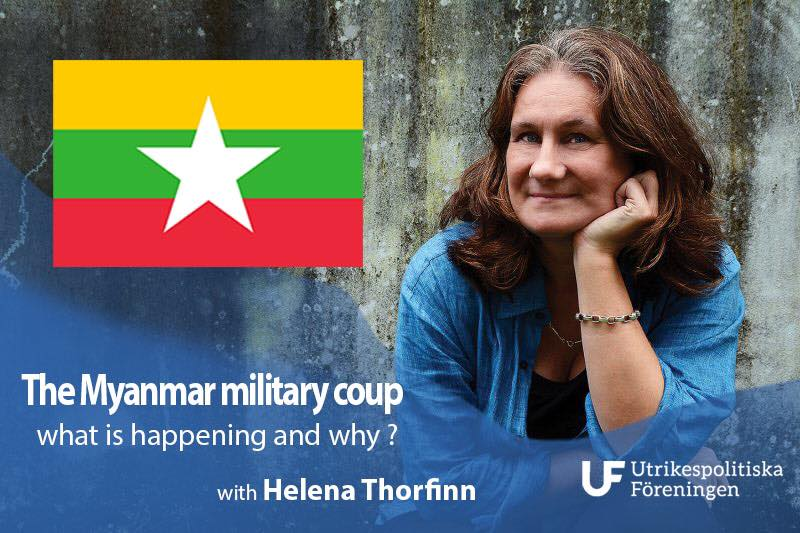 Kvällsföreläsning: The Myanmar military coup - what is happening and why?